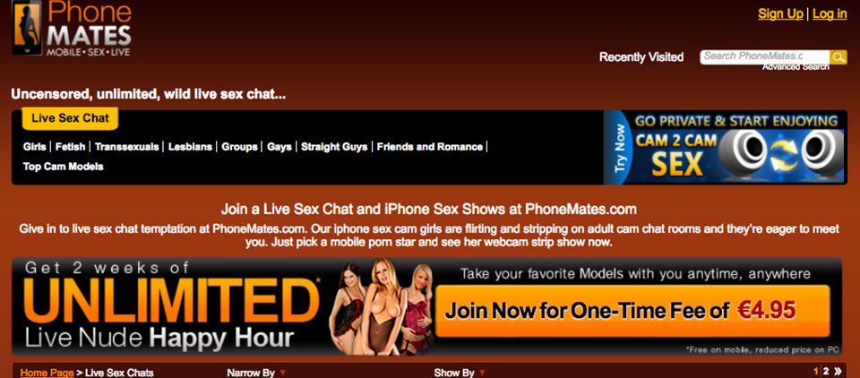 Mobile adult sex chat