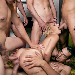 Recommended adult site providing stunning gangbang videos